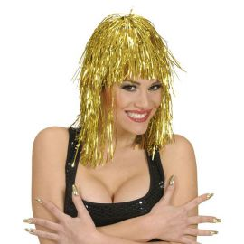 Peluca disco oro