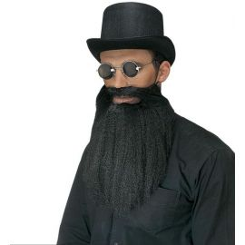 Barba larga con bigote negra