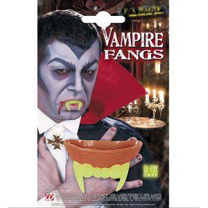 Dientes vampiro fluorescente
