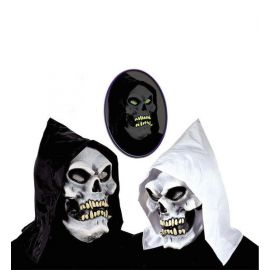 Mascara calavera fluorescente capucha