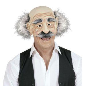 Mascara anciano con bigote