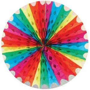 Abanico arcoiris 50 cm.