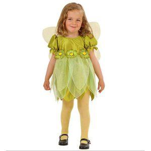Disfraz princesita verde de 1 a 3 a?os