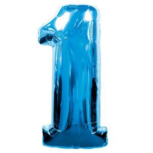 Globo helio numero 1 azul