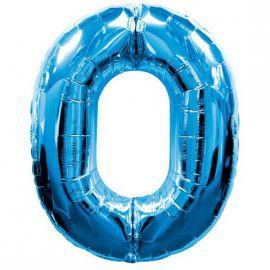Globo helio numero 0 azul