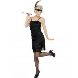 Disfraz charleston negro con cinta