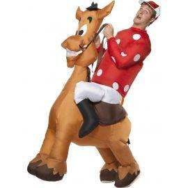 Disfraz jockey con caballo
