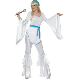 Disfraz disco azul abba mujer adulto