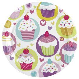 Platos cupcake 23 cm 8 und