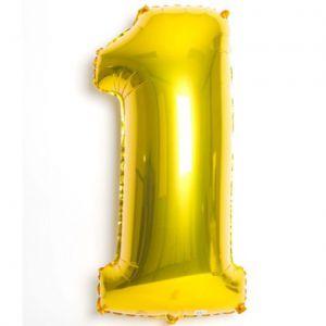 Globo helio numero 1 oro