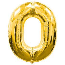 Globo helio numero 0 oro