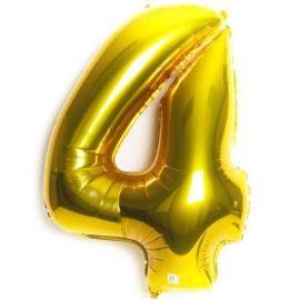 Globo helio numero 4 oro