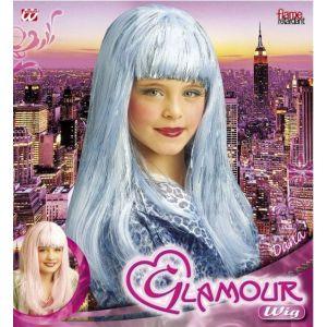 Peluca glamour colores infantil