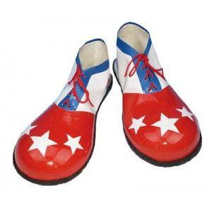 Zapatos payaso estrellas