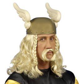 Peluca vikingo con bigote
