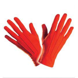 Guantes cortos rojos