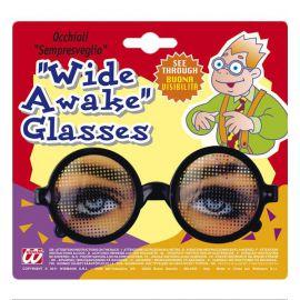 Gafas redondas con ojos