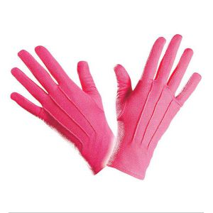 Guantes cortos rosas