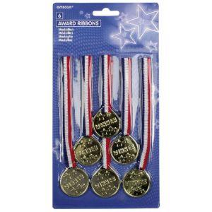 Medallas pack 6 unidades