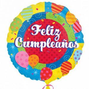 Globo helio feliz cumpleaños circulo