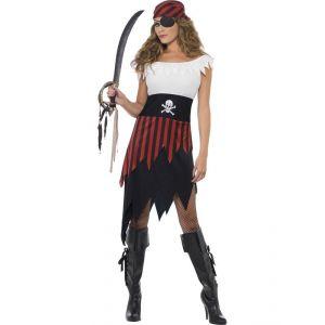Disfraz piratesa doble falda
