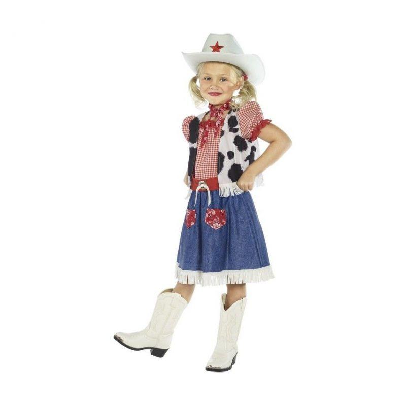 Disfraz vaquera con sombrero niñas de 4 a 9 años - Barullo.com b421807c726