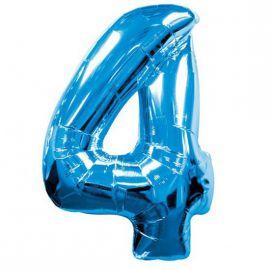 Globo helio numero 4 azul