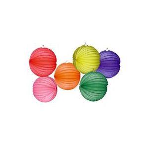 Farolillos colores lisos pack 6 surt