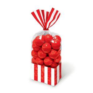 Bolsas plastico con cierre rojas pack 10