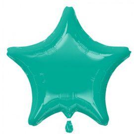 Globo helio estrella azul turquesa
