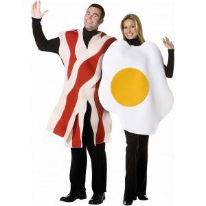 Disfraz huevos con bacon 2 en 1