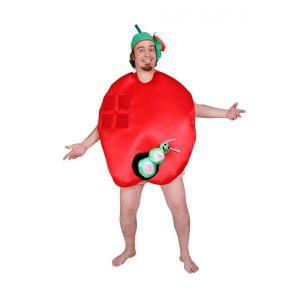 Disfraz manzana con gusano