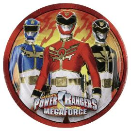 Platos power rangers 18 cm pack 8 und