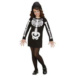 Disfraz esqueleto ni?a glamour