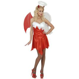 Disfraz w angel y demonio chica