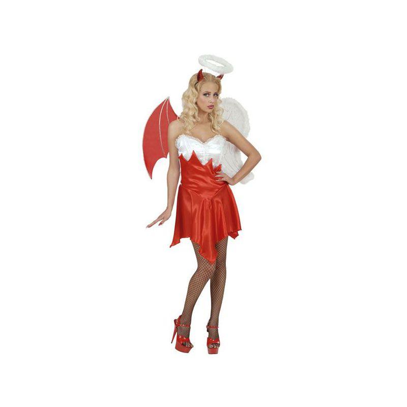 Disfraz angel y demonio chica Barullocom