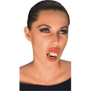 Dientes vampiro oro