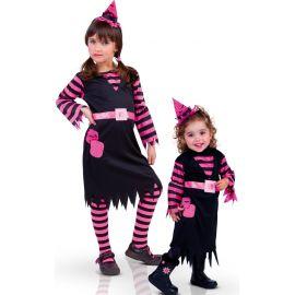 Disfraz bruja patch rosa
