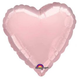 Globo helio corazon rosa