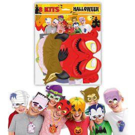 Caretas caton halloween pack 8 und