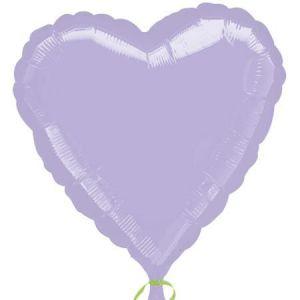Globo helio corazon lila