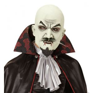 Mascara vampiro con bigote y perilla
