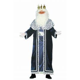 Disfraz rey mago azul adulto