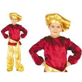 Disfraz paje rubio infantil