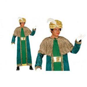 Disfraz rey mago verde adulto