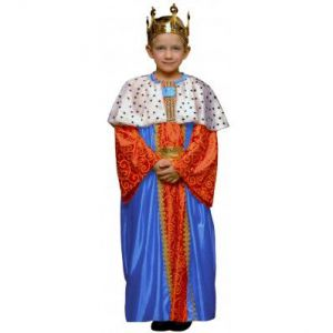 Disfraz rey mago azul infantil