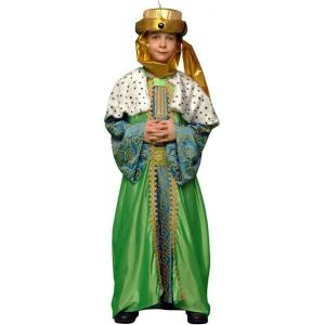 Disfraz rey mago verde infantil