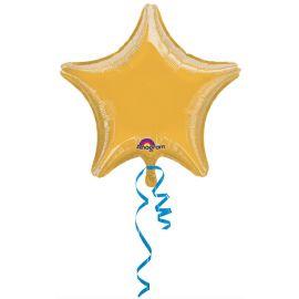 Globo helio estrella jumbo oro