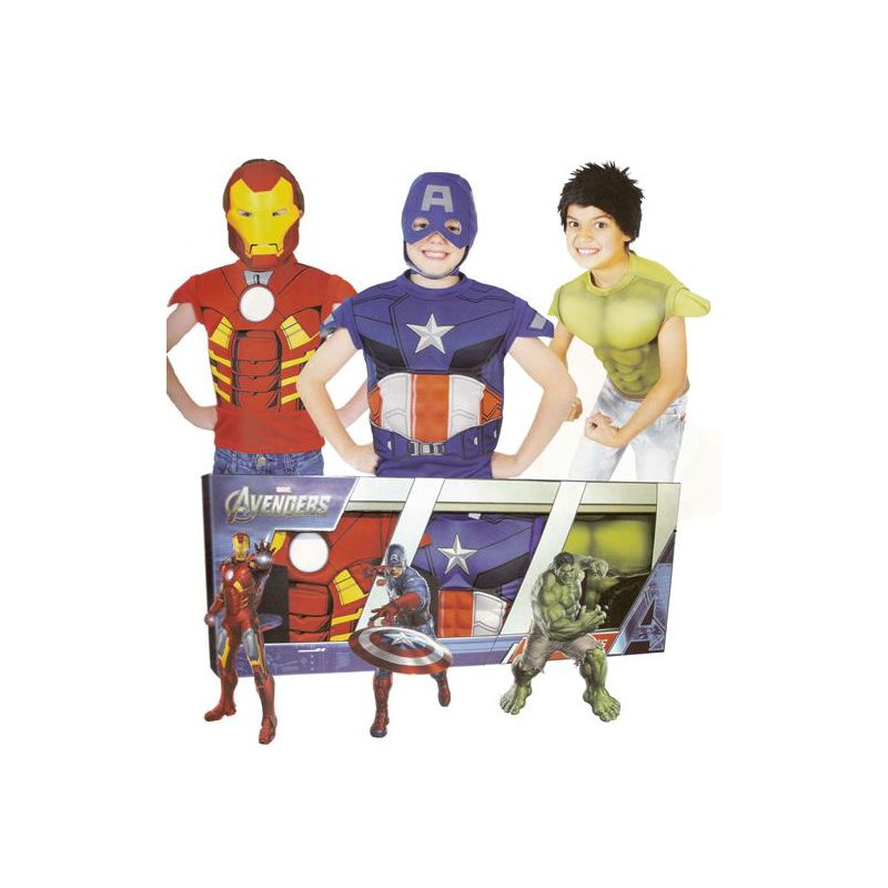 cofre 3 disfraces superheroes