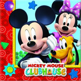 Servilletas Mickey Club House (20 unid.)